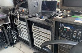 Monitor electronics at live concert